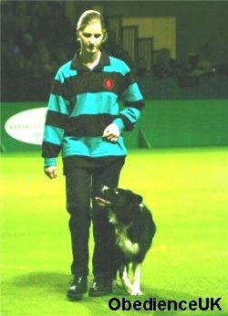 Kat & Meg doing Obedience at Crufts