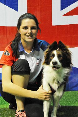 Naarah Cuddy and Sheltysham S�ance at the FCI World Agility Championships 2015 in Bologna, Italy